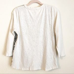 J. Crew Tops - J. Crew Embroidered Front Tee #07293